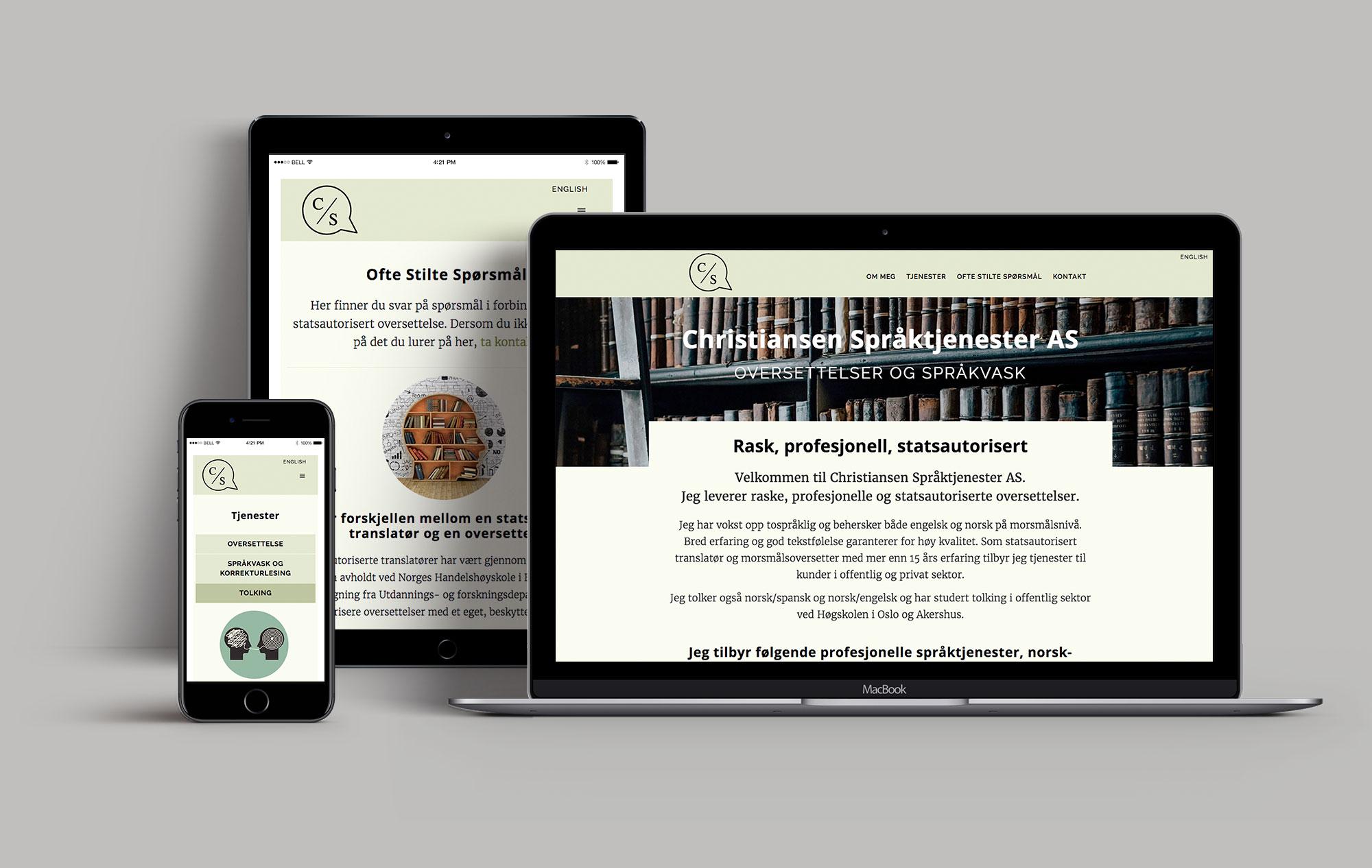 norskengelsk web presentation